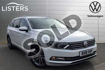 Volkswagen Passat 2.0 TDI SCR 190 GT 5dr DSG(Panoramic Rf) (7 Speed) in Pure white at Listers Volkswagen Loughborough