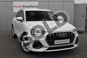 Audi Q3 35 TFSI S Line 5dr S Tronic in Ibis White at Stratford Audi