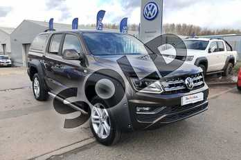 Volkswagen Amarok D/Cab Pick Up Highline 3.0 V6 TDI 224 BMT 4M Auto in Brown at Listers Volkswagen Van Centre Worcestershire