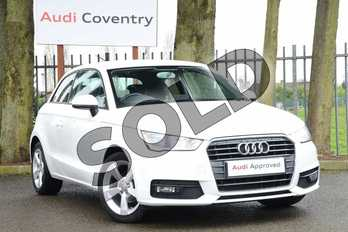 Audi A1 1.0 TFSI Sport 3dr in Shell White at Coventry Audi