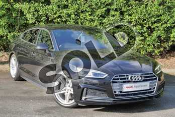 Audi A5 2.0 TDI Quattro S Line 5dr S Tronic in Myth Black Metallic at Worcester Audi