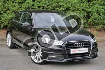 Audi A1 1.4 TFSI 150 S Line 3dr in Brilliant Black at Worcester Audi