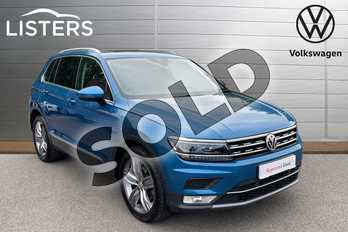 Volkswagen Tiguan 2.0 TDI 150 SEL 5dr DSG in Caribbean Blue at Listers Volkswagen Coventry