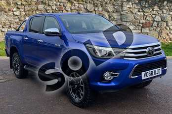 Toyota Hilux Invincible X D/Cab Pick Up 2.4 D-4D Auto in Blue at Listers Toyota Stratford-upon-Avon
