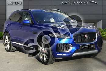 Jaguar F-PACE 3.0d V6 1st Edition 5dr Auto AWD in Caesium Blue at Listers Jaguar Droitwich