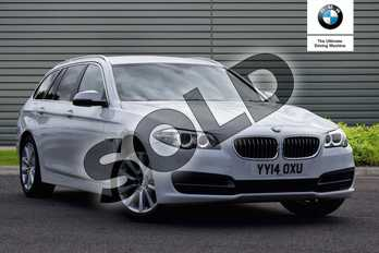 BMW 5 Series 520d SE 5dr Step Auto in Metallic - Mineral white at Listers U Boston