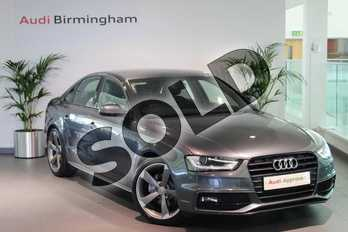 Audi A4 2.0 TDI 177 Black Edition 4dr in Daytona Grey, pearl effect at Birmingham Audi