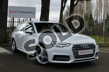 Audi A4 2.0T FSI S Line 5dr S Tronic in Ibis White at Coventry Audi