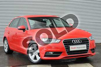 Audi A3 1.4 TFSI 125 Sport 5dr (Nav) in Misano Red Pearlescent at Coventry Audi