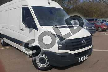 Volkswagen Crafter 2.0 TDI BMT 140PS High Roof Van in White at Listers Volkswagen Van Centre Coventry