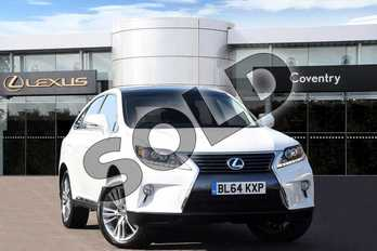 Lexus RX 450h 3.5 Advance 5dr CVT Auto (Pan roof) in Arctic Pearl at Lexus Coventry