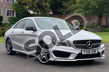Mercedes-Benz CLA Class CLA 180 AMG Sport 4dr in Polar silver metallic at Mercedes-Benz of Lincoln