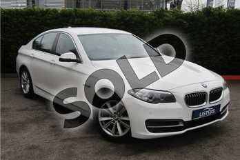 BMW 5 Series 520d (190) SE 4dr Step Auto in Solid - Alpine white at Listers U Boston
