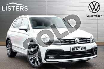 Volkswagen Tiguan 2.0 TDI 150 4Motion R Line 5dr DSG in Pure white at Listers Volkswagen Leamington Spa