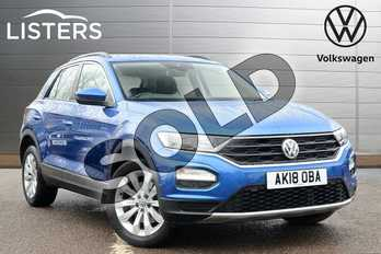 Volkswagen T-Roc 1.5 TSI EVO SE 5dr in Ravenna Blue Metallic at Listers Volkswagen Leamington Spa
