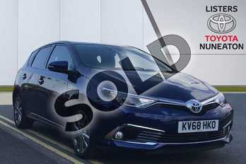 Toyota Auris 1.8 Hybrid Excel TSS 5dr CVT (Leather) in Blue at Listers Toyota Nuneaton