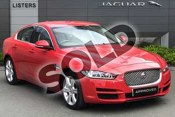 Jaguar XE 2.0 (250) Portfolio 4dr Auto in Caldera Red at Listers Jaguar Droitwich
