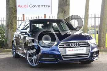 Audi A3 S3 TFSI Quattro 5dr S Tronic in Navarra Blue Metallic at Coventry Audi