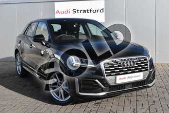 Audi Q2 35 TFSI S Line 5dr in Myth Black Metallic at Stratford Audi