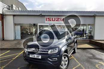 Volkswagen Amarok D/Cab Pick Up Highline 3.0 V6 TDI 224 BMT 4M Auto in Metallic - Starlight blue at Listers Isuzu Worcester