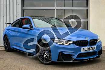 BMW M4 M4 2dr DCT (Competition Pack) in Yas Marina Blue metallic at Listers King's Lynn (BMW)