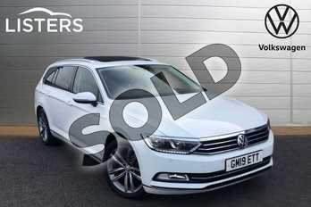 Volkswagen Passat 2.0 TDI GT 5dr (Panoramic Roof) in Pure white at Listers Volkswagen Loughborough