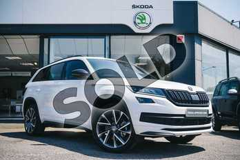 Skoda Kodiaq 2.0 TDI 190 Sport Line 4x4 5dr DSG (7 Seat) in Moon White Metallic at Listers ŠKODA Coventry