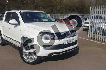 Volkswagen Amarok D/Cab Pick Up Atacama 2.0 BiTDI 180 BMT 4MTN Auto in White at Listers Volkswagen Van Centre Coventry