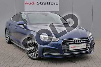 Audi A5 2.0 TFSI Quattro S Line 5dr S Tronic in Scuba Blue Metallic at Stratford Audi
