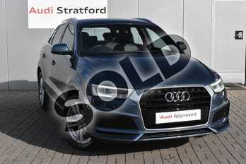 Audi Q3 2.0 TDI S Line Edition 5dr in Utopia Blue Metallic at Stratford Audi