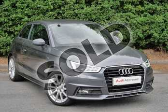 Audi A1 1.6 TDI S Line 3dr in Daytona Grey Pearlescent at Worcester Audi