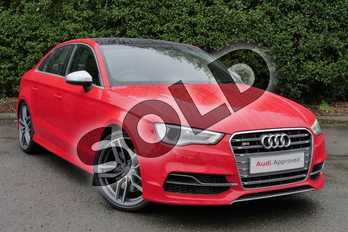 Audi A3 S3 TFSI Quattro 4dr (Nav) in Misano Red Pearlescent at Worcester Audi