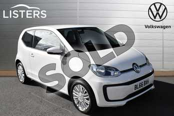Volkswagen Up 1.0 Move Up 3dr in Candy White at Listers Volkswagen Evesham