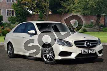 Mercedes-Benz E Class E350 BlueTEC AMG Line 4dr 9G-Tronic in designo Diamond White at Mercedes-Benz of Lincoln