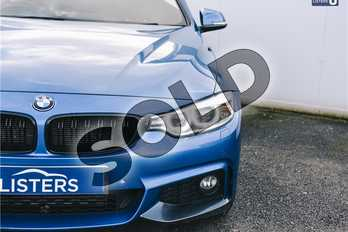 BMW 4 Series 430d M Sport 2dr Auto in Metallic - Estoril Blue at Listers U Solihull