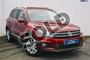 Volkswagen Tiguan 2.0 TDI BlueMotion Tech Match 5dr (2WD) in Metallic - Wild cherry red at Listers U Solihull