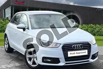 Audi A1 1.4 TFSI Sport 5dr in Glacier White Metallic at Worcester Audi