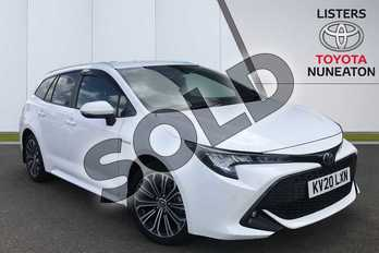 Toyota Corolla 1.8 VVT-i Hybrid Design 5dr CVT in White at Listers Toyota Nuneaton