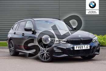 BMW 3 Series 330d xDrive M Sport 5dr Step Auto in Black Sapphire metallic paint at Listers Boston (BMW)