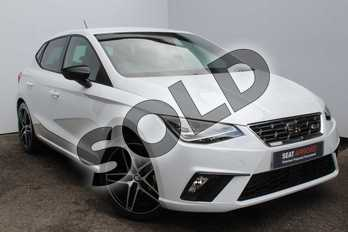 SEAT Ibiza 1.0 TSI 95 FR Sport (EZ) 5dr in White at Listers SEAT Worcester