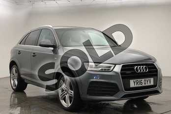 Audi Q3 2.0 TDI Quattro S Line Plus 5dr S Tronic in Monsoon Grey Metallic at Birmingham Audi