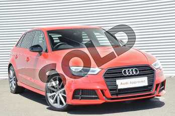 Audi A3 1.5 TFSI Black Edition 5dr S Tronic in Tango Red Metallic at Coventry Audi