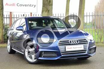 Audi A4 2.0 TDI S Line 5dr in Scuba Blue Metallic at Coventry Audi