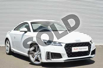 Audi TT 45 TFSI S Line 2dr S Tronic in Glacier White Metallic at Coventry Audi