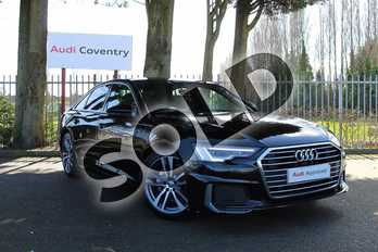 Audi A6 40 TDI S Line 4dr S Tronic in Myth Black Metallic at Coventry Audi