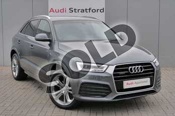 Audi Q3 2.0 TDI (184) Quattro S Line Plus 5dr in Daytona Grey Pearlescent at Stratford Audi