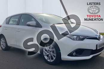 Toyota Auris 1.2T Icon Tech TSS 5dr in White at Listers Toyota Nuneaton