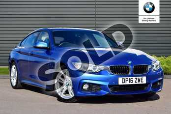 BMW 4 Series 420d (190) M Sport 5dr Auto (Professional Media) in Estoril Blue at Listers Boston (BMW)