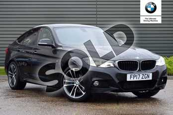 BMW 3 Series 320d xDrive M Sport 5dr Step Auto (Business Media) in Black Sapphire metallic paint at Listers Boston (BMW)