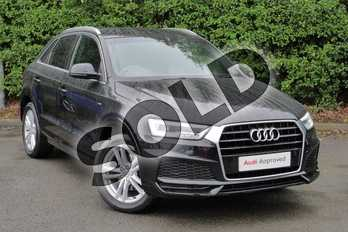 Audi Q3 1.4T FSI S Line Edition 5dr in Myth Black Metallic at Worcester Audi